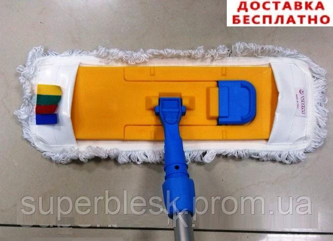 Швабра для влажной уборки на карманах 40х13 см