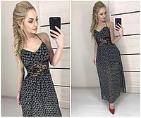 Летнее шифоновое платье с гепюром