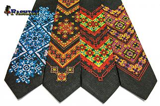 Вышитый галстук Лето, фото 2