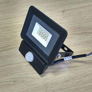 Светодиодный прожектор c датчиком движения 10W Slim IP65 6500K 900Lm SDM