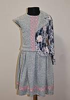 Костюм для девочек тройка пиджак юбка и кофточка, фото 1