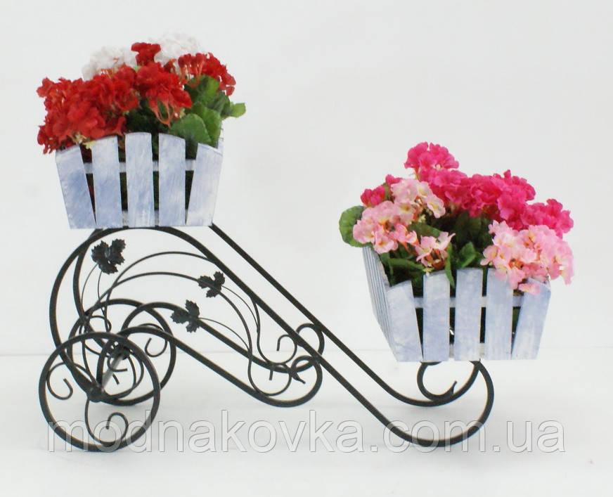 Кованая подставка для цветов Горка