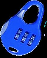"""Замок кодовий """"міні"""" синій"""