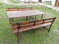 Садовая мебель, стол, скамейка, лавочка.