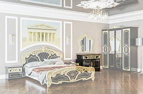 Комод Кармен Новая Люкс черное золото (Світ Меблів TM)
