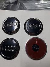 Наклейки на диски, колпачки заглушки 3D Audi 60 мм