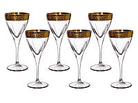 Набор фужеров для вина из 6-ти шт. декор золотом, 18,7 см., 200 гр.1/1