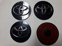 Наклейки на диски, колпачки заглушки 3D Toyota 60 мм