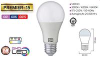 Светодиодная LED лампа Horoz Electric, 15W, 3000K, 220V, груша, Е27, Premier-15