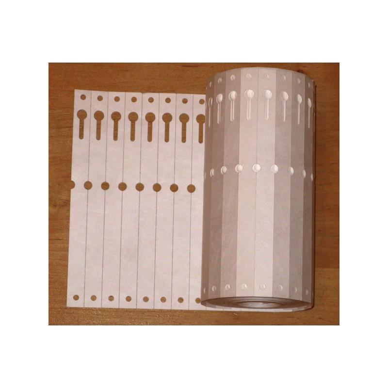 Этикетка TYVEK белая 1,27х16 см, 1000 шт.