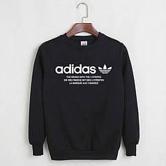 Свитшот молодежный Adidas черный реплика реплика