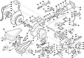 Запасные части к горелке Riello серии RL 70 100 130 M
