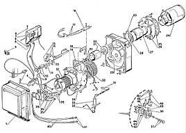 Запасные части к горелке Riello Gulliver BLU BG7D