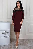 Красивое женское платье модного кроя в расцветках
