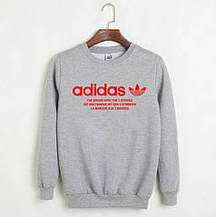 Свитшот молодежный Adidas серый реплика