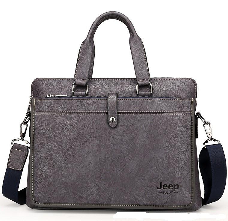 Мужская сумка через плечо для документов Jeep серая