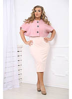 Женское балеро больших размеров Эрудит / цвет розовый / размер 48-72