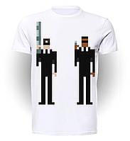 Футболка GeekLand Люди в черном Men in Black 8-bit art MN.01.001