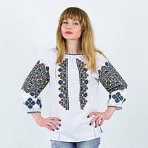 Этническая блуза с вышивкой Украиночка белая, фото 2