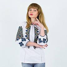 Этническая блуза с вышивкой Украиночка белая, фото 3