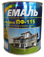 Емаль ПФ-115 чорна / 50 кг. / Хімтекс (бан.)