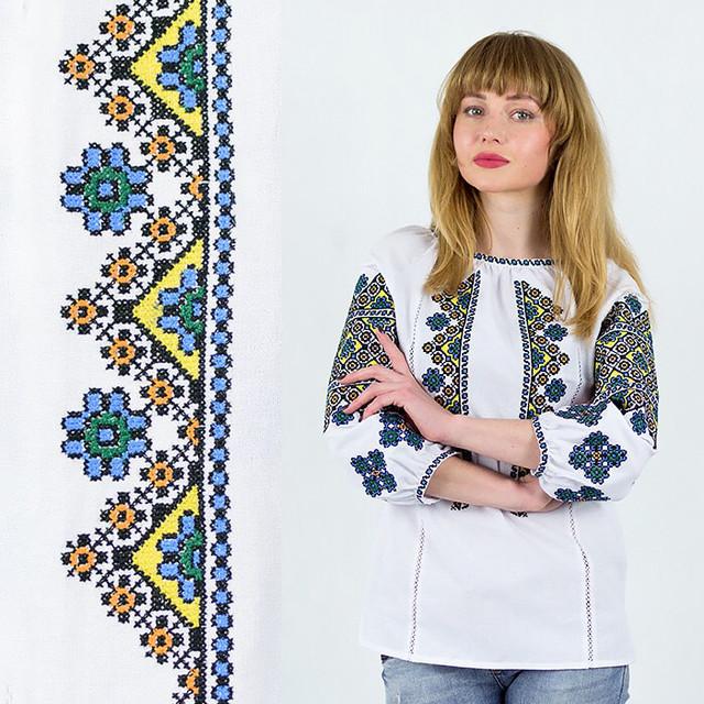 Этническая блуза с вышивкой Украиночка белая
