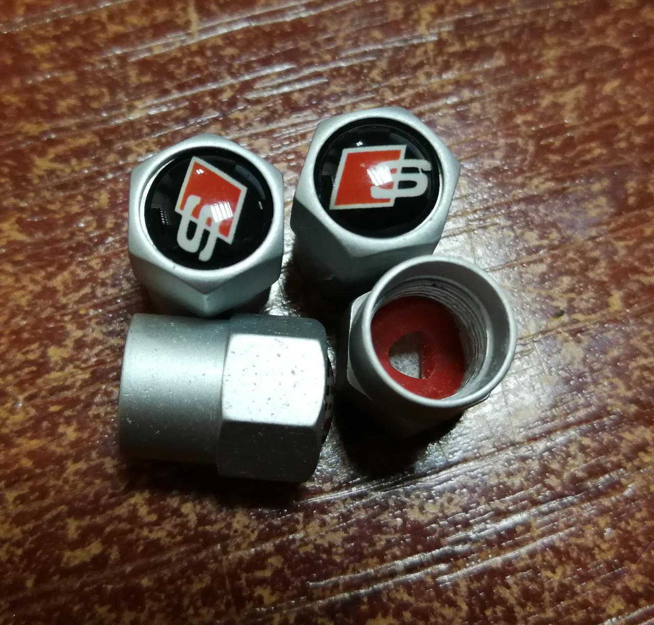 Колпачки на ниппель с логотипом  S-line - алюминиевые
