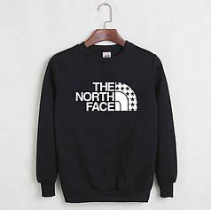 Свитшот молодежный The north face черный реплика
