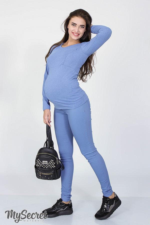 Джинсы-джеггинсы для беременных PINK голубые 50 размер