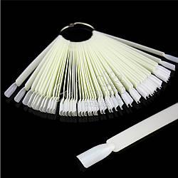 Типсы палитра-веер на кольце 50 шт/упак. (белые)