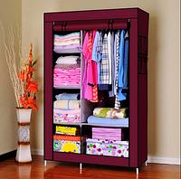 Тканевый Шкаф Органайзер Storage Wardrobe;2 Секции