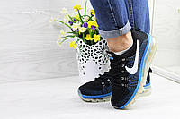 Женские кроссовки  Nike Air Max 2017 черные с синим
