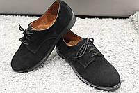 Туфли женские кожаные классика натуральная замша