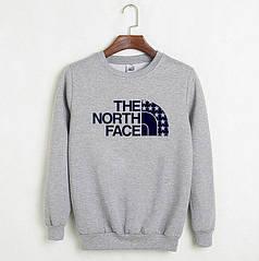 Свитшот молодежный The north face серый реплика