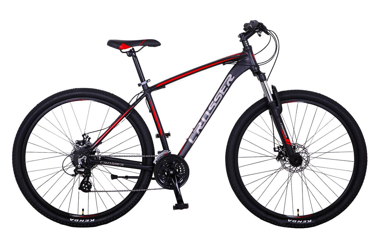 """Горный велосипед CROSSER INSPIRON 29""""  Черный/Красный"""