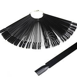 Типсы палитра-веер на кольце 50 шт/упак. (черные)