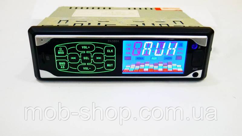 Автомагнитола пионер Pioneer PA388A ISO - MP3 Player, FM, USB, SD, AUX сенсорная магнитола