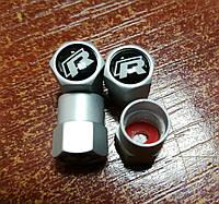 Колпачки на ниппель с логотипом  R-line - Алюминиевые