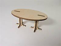 Игрушечная мебель Стол овальный