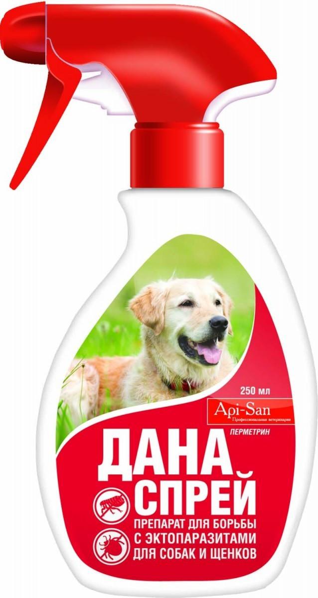 ДАНА СПРЕЙ для собак и щенков от блох и клещей 250 мл