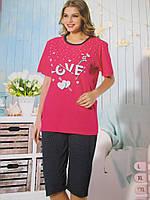 Хлопковые пижамы батального размера, фото 1