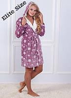 Женский бамбуковый халат с капюшоном 00016