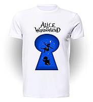 Футболка GeekLand Алиса в Стране чудес Alice in Wonderland Lock art AW.01.003