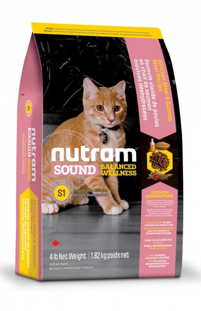 Nutram KITTEN 0.32 кг - холистик корм для котят (курица/лосось)