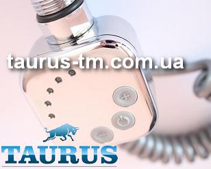 ТЭН HeatQ квадратной формы с электронным регулятором +таймер (Польша) хром, для полотенцесушителя TAURUS