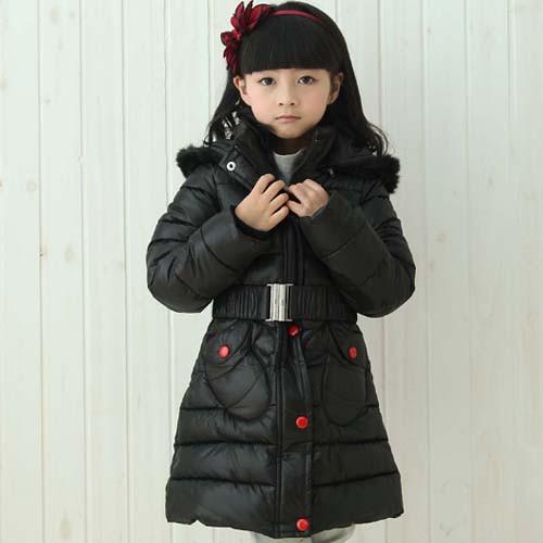 Детское зимнее пальто на девочку Микки черное