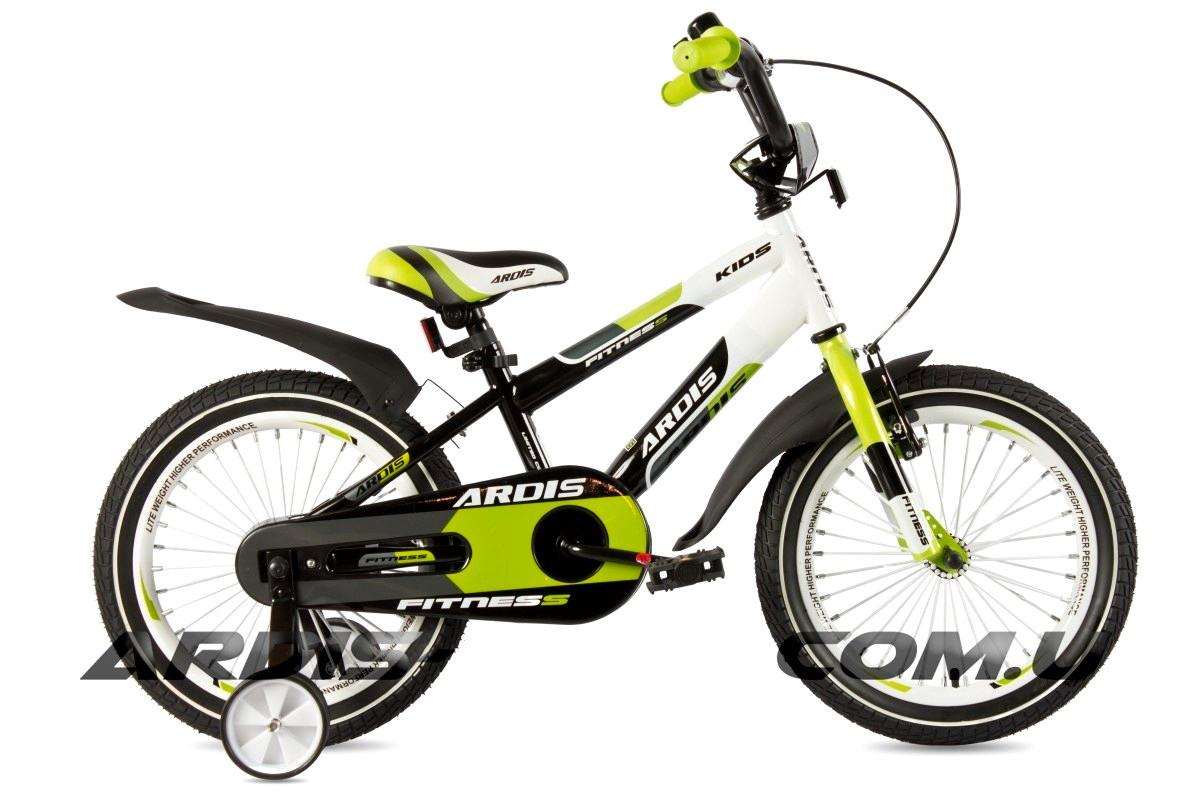 """Детский велосипед ARDIS FITNESS BMX 16""""  Салатовый/Черный/Белый"""