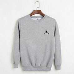 Свитшот молодежный Jordan серый реплика