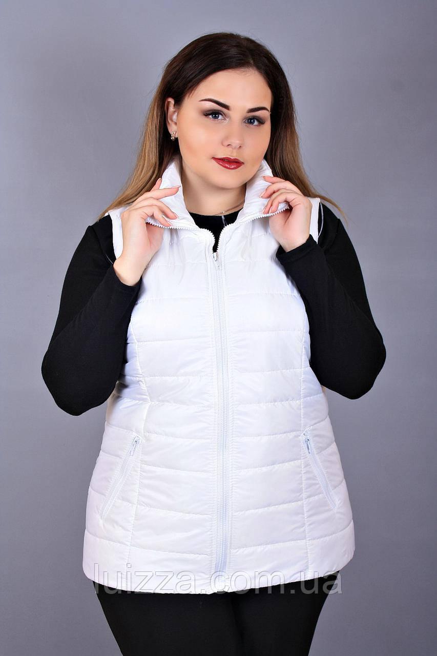 Женский жилет из плащевки  50-56р белый 54