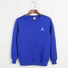 Свитшот молодежный Jordan синий реплика